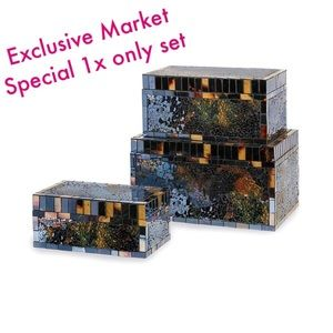 Accessories - HIGH QUALITY NEW SET/3 Mosaic Glass Boxes-GREAT $